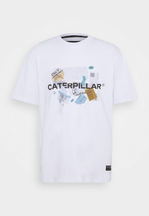 POWER TEE - T-shirt med print - white