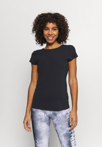 Nike Performance - THE YOGA LUXE - T-shirts - black/dark smoke grey - 0