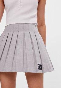 Bershka - Áčková sukně - grey - 3