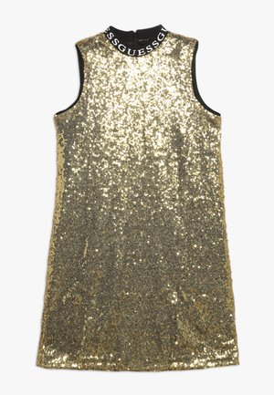 JUNIOR FULL SEQUINS DRESS - Vestito elegante - metallicgold