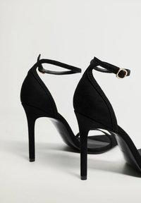 Mango - Sandály na vysokém podpatku - černá - 3