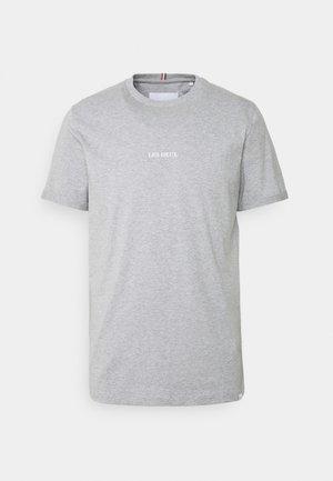 LENS - Basic T-shirt - light grey melange/white