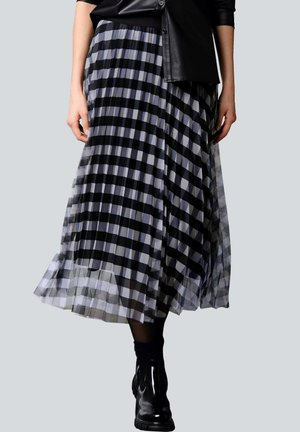 Pleated skirt - schwarz,off-white