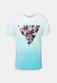 PALM BEACH TEE - Print T-shirt - water/white dip