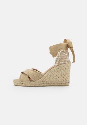 BLUMA - Korkeakorkoiset sandaalit - oro claro