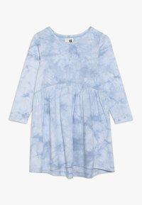 Cotton On - FREYA LONG SLEEVE DRESS - Žerzejové šaty - dusty blue tie dye - 0