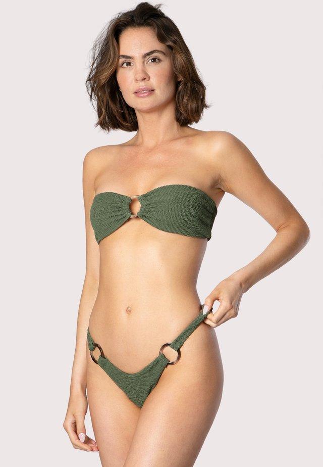 HIGH-CUT CRINKLE - Bikinibroekje - green