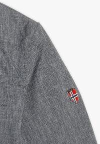TrollKids - GIRLS HOVDEN JACKET - Ski jacket - grey melange/magenta - 6