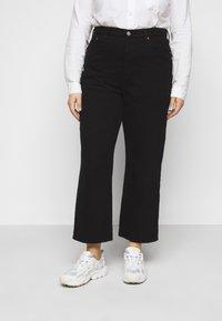 Levi's® Plus - RIBCAGE STRAIGHT - Straight leg jeans - black heart - 0