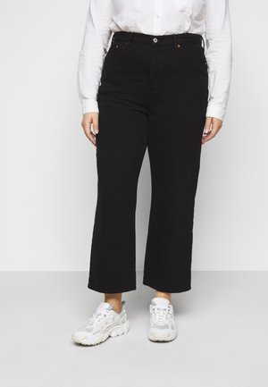 STRAIGHT - Straight leg jeans - black heart