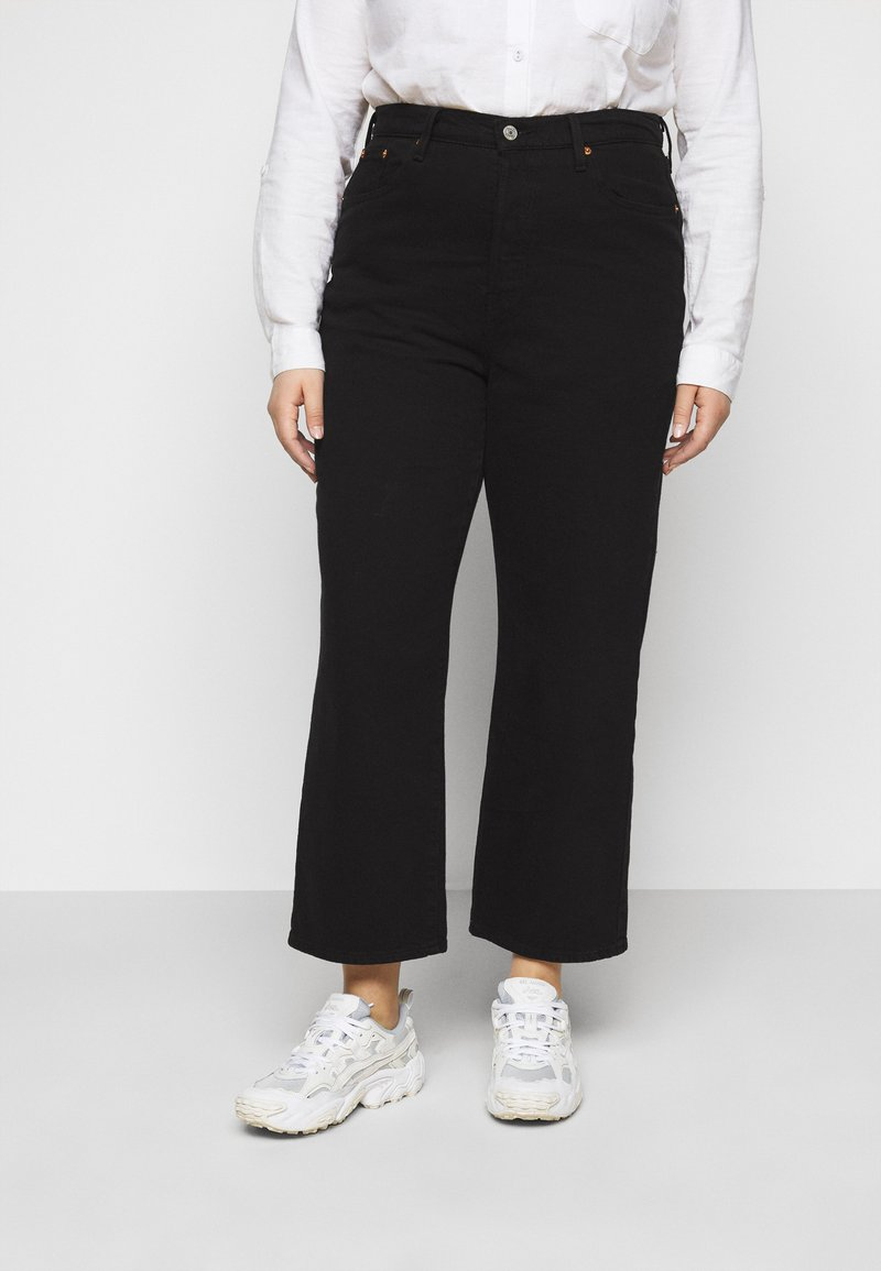 Levi's® Plus - RIBCAGE STRAIGHT - Straight leg jeans - black heart