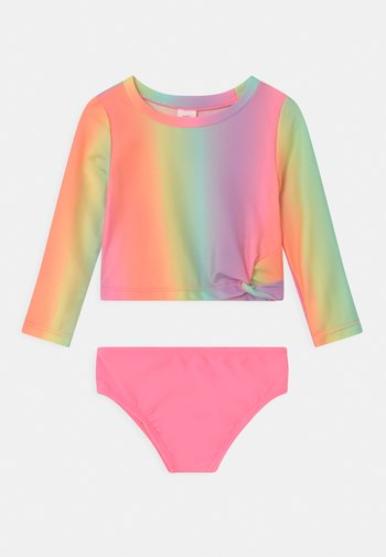 TODDLER GIRL SET - Swimsuit - ombre coral