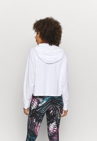 DKNY - RAGLAN HOODIE RHINESTONE LOGO - Long sleeved top - white - 2