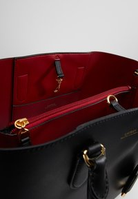Lauren Ralph Lauren - MARCY SATCHEL LARGE - Handbag - black/red