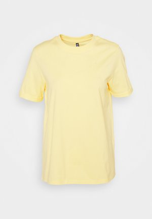 PCRIA FOLD UP SOLID TEE - Basic T-shirt - pale banana