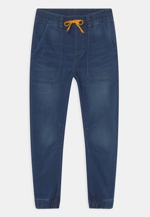 TERRY - Tracksuit bottoms - medium blue