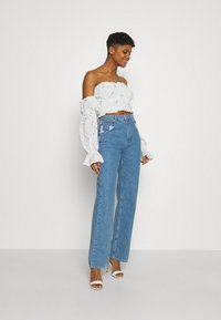 Missguided - BARDOT CROP - Long sleeved top - white - 1