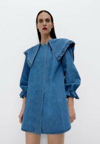 Uterqüe - Denim dress - blue - 0