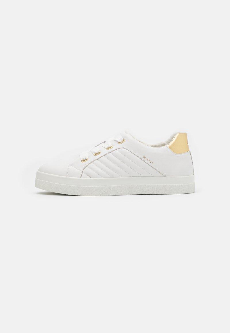 GANT - AVONA - Sneakers laag - bright white/gold