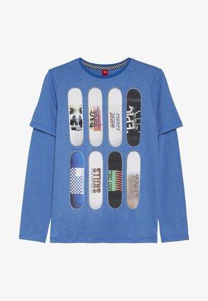 Top sdlouhým rukávem - blue single dye melange