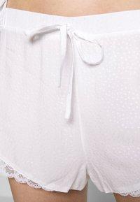 Pour Moi - SPOT MIX SHORT - Pyjama bottoms - white - 4