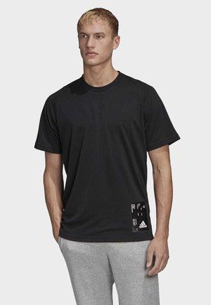 INSIDE MESH TECH T-SHIRT - Print T-shirt - black