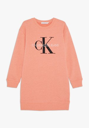 MONOGRAM SWEATSHIRT DRESS - Day dress - pink