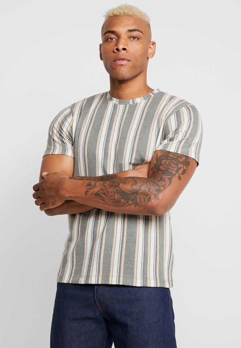 Topman - STRIPE SNIT - T-shirt con stampa - multicolored