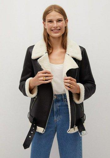ADRI-I - Faux leather jacket - black