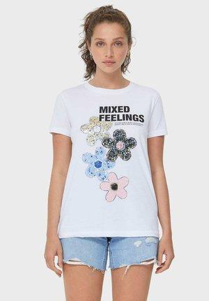 MIT FOLI - T-shirt con stampa - white