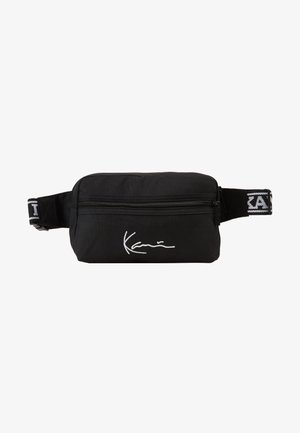 KK SIGNATURE TAPE HIP BAG - Ledvinka - black/white