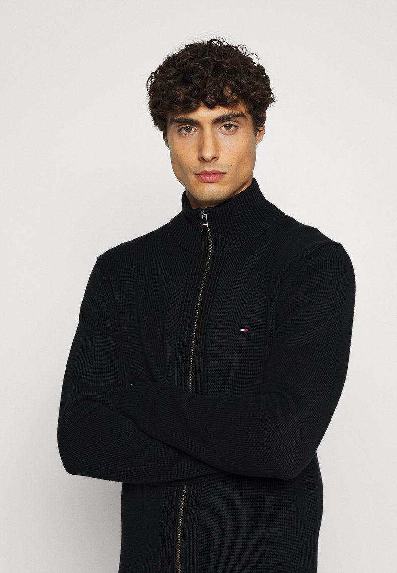 Tommy Hilfiger - CHUNKY ZIP THROUGH - Cardigan - black