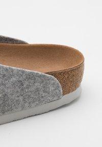 Birkenstock - AMSTERDAM VEGAN UNISEX - Slippers - light gray - 5