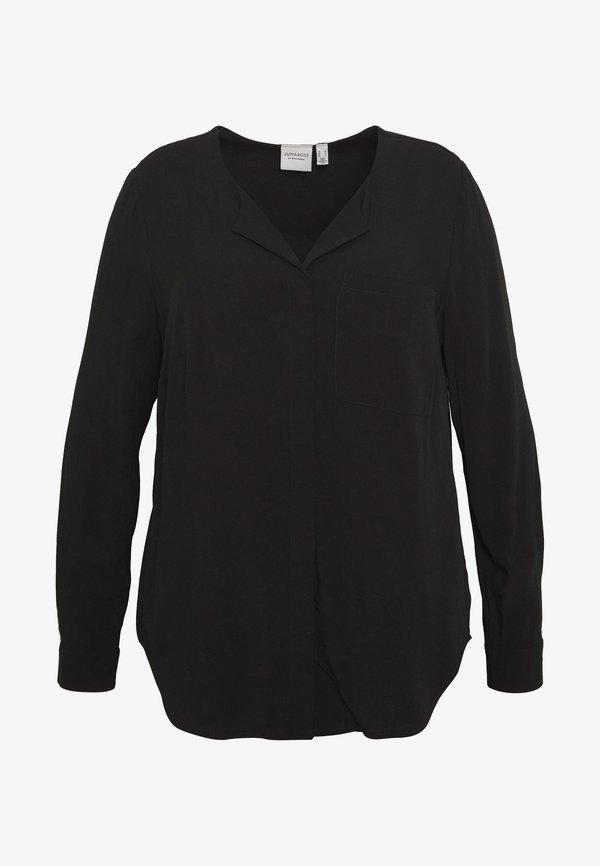 JUNAROSE - by VERO MODA JRVERONICA SOLID SHIRT - Bluzka - black/czarny QOHZ