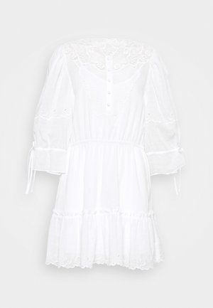 MINI TIERED DRESS - Sukienka letnia - white