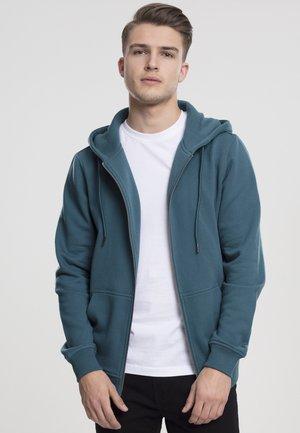 BASIC - Zip-up hoodie - teal