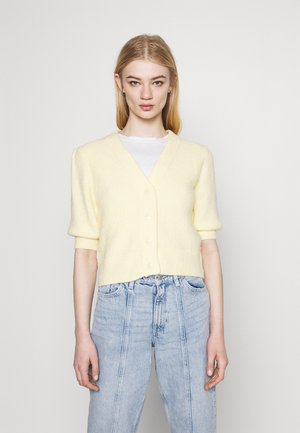 PUFFY CARDIGAN - Cardigan - yellow