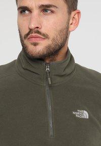 The North Face - MENS GLACIER 1/4 ZIP - Bluza z polaru - new taupe green - 4