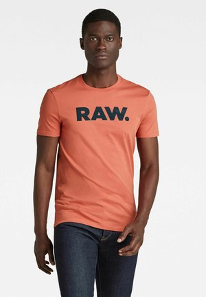 RAW SLIM - T-shirt print - dull berry