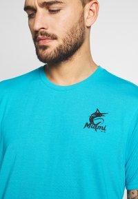 Fanatics - NFL MIAMI MARLINS SHORT SLEEVE  - T-shirt z nadrukiem - blue - 4