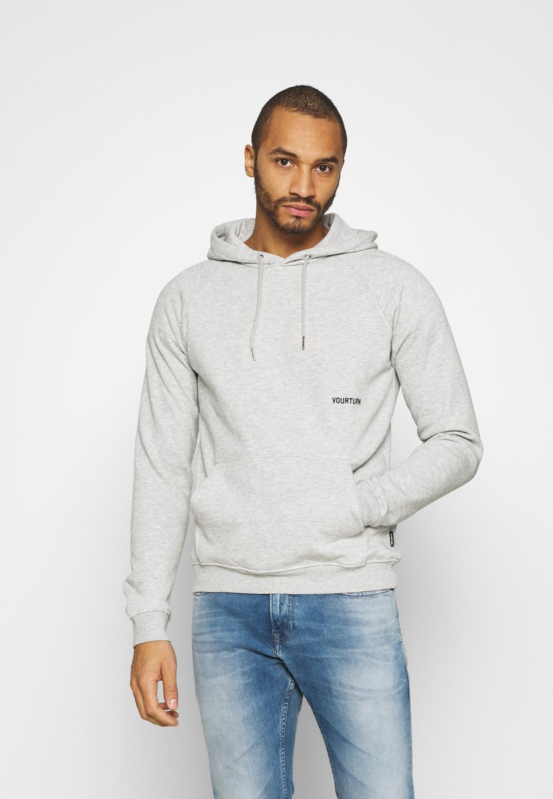YOURTURN - UNISEX - Jersey con capucha - mottled light grey