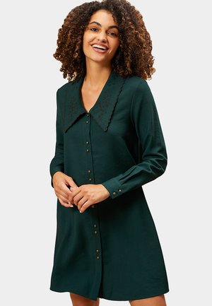 EMBROIDERED COLLAR - Blousejurk - babery green