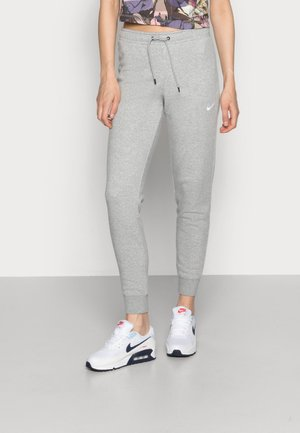 TIGHT - Tracksuit bottoms - dark grey heather/white