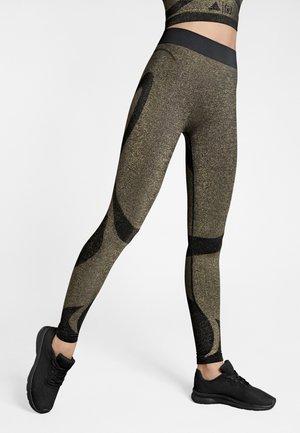 Leggings - Trousers - black/gold