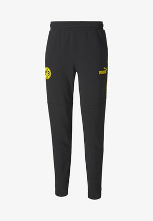 BVB FTBLCULTURE  - Tracksuit bottoms - black-cyber yellow