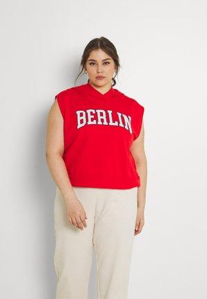 NMRUBY HOODIE - T-shirt con stampa - flame scarlet