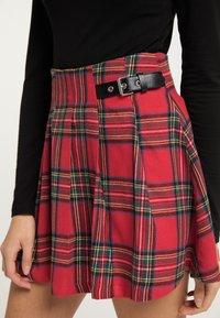 myMo ROCKS - Pleated skirt - rot kariert - 3