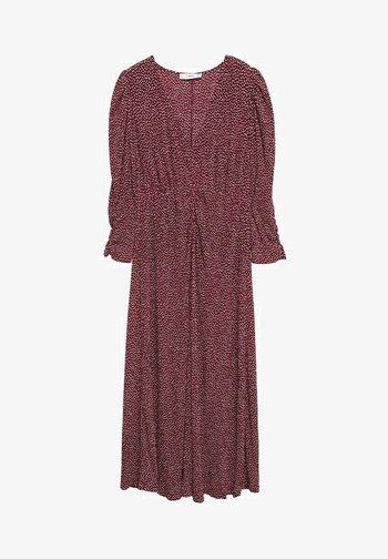 Korte jurk - donkerrood