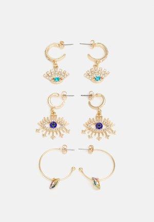 PCELITHA EARRINGS 3 PACK - Earrings - gold-coloured