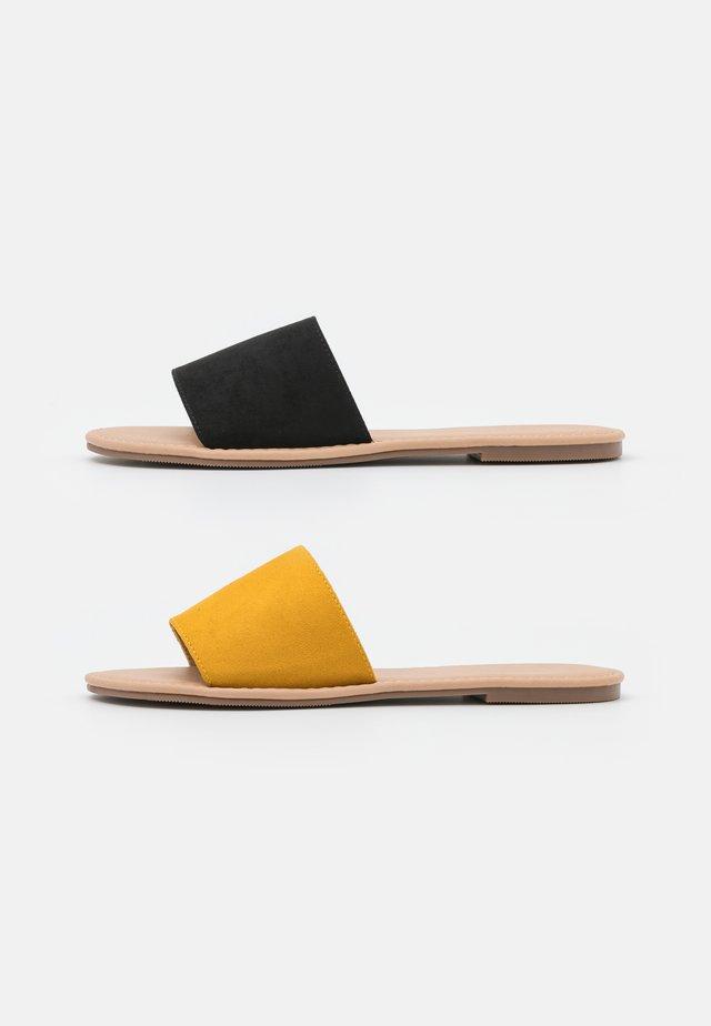 2 PACK - Muiltjes - black/yellow